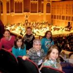 Students at Merril Auditorium