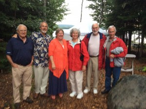 Wet but happy concert-goers at the Batchelder party