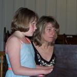 Piano Student at Recital