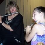 Flute Student at Recital